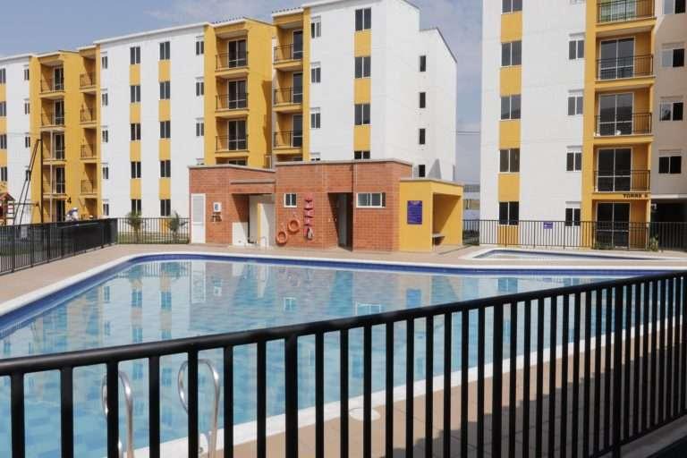 Ciudad del Valle vista interna desde la piscina