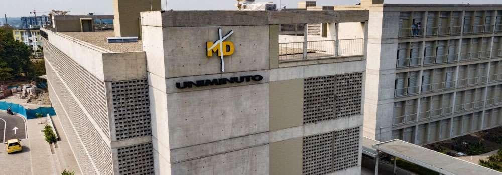 Uniminuto Villavicencio vista frontal izquierda superior fondo natural