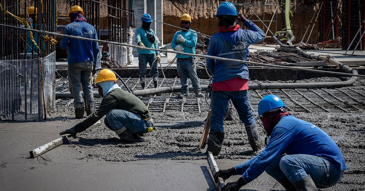 Vaciado de concreto histórico Barranquilla